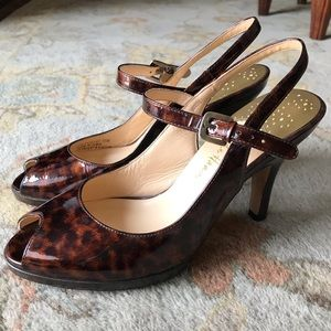 Cole Haan Tortoise Shell Patent Slingback Nike Air